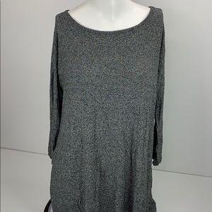 J Jill Wearever Collection Gray Long Sleeve Tunic